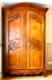 carved wooden old retro wardrobe