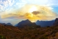 Sunset in canyon Masca at Tenerife island - Canary Spain