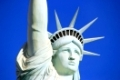 Close up of Replica of Statue of Liberty, New York - New York hotel and casino, Las Vegas Nevada, USA