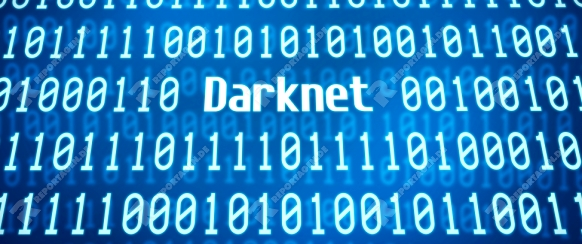 Binary code with the word Darknet in the center