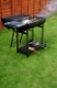black barbecue grill on a outdoor house garden