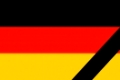 The German flag in mourning style. Illustration