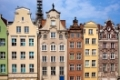 Poland, city of Gdansk, Old Town, historic tenement houses with gables