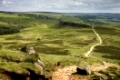 Hathersage Moor, view towards Carl Wark and Burbage Rocks, Derbyshire, England