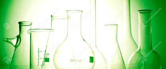 Laboratory glass for chemistry or medicine for research